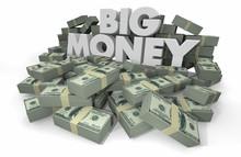 Big Money Piles Stacks Wealthy...