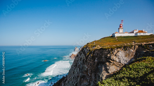 Foto auf AluDibond famous lighthouse ocean portugal cabo da roca