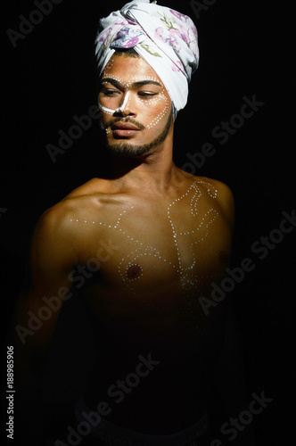 Poster Inspiration painterly Dançarino afro turbante
