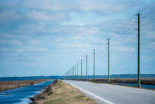 Telephone Poles Following The ...