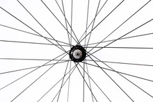 Black And Alloy Bicycle Spokes...