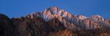 Panorama of Glowing Lone Pine Peak Sunrise, Alabama Hills, Lone Pine, California