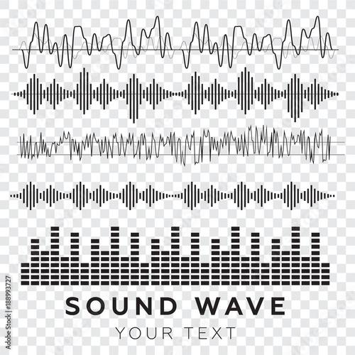 Photo  Sound waves concept