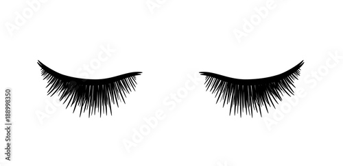 eyelashes extension a hand drawn vector sketch illustration of
