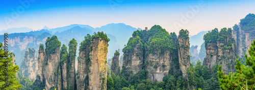 Zhangjiajie. Huangshi Stockaded Village Scenic Spot (Huangshizhai). Located in Wulingyuan Scenic and Historic Interest Area (Wu Ling Yuan Feng Jing Ming Sheng Qu), Hunan, china.