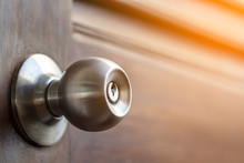 Stainless Door Knob And Keyhol...