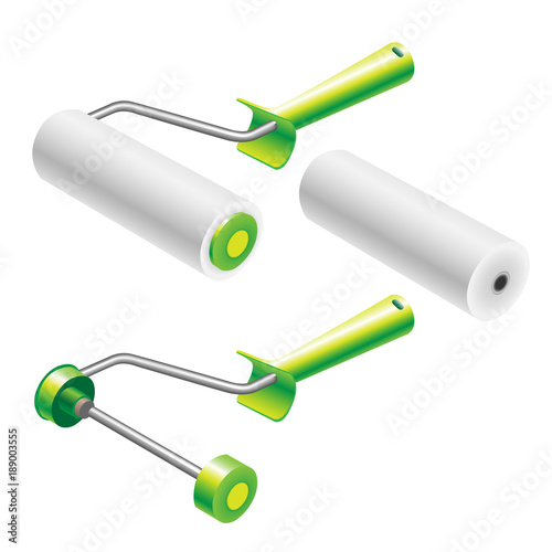 Paint roller frame and roller sleeve complect  Paint roller