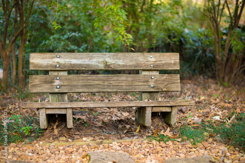 Photo  Wooden Park Bench