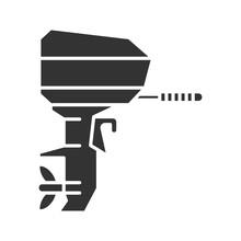 Outboard Boat Motor Glyph Icon