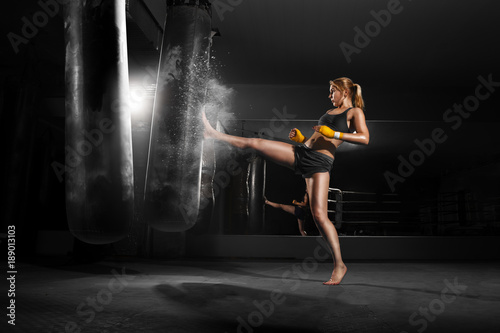 Canvas Print Kickboxing
