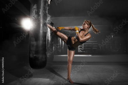 Fotografie, Tablou Kickboxing