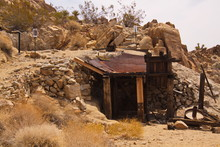 Old Abandoned Mine At Lost Palms Oasis Trail In Joshua Tree National Park In California In The USA