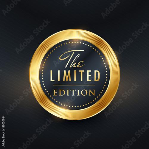 Cuadros en Lienzo limited edition label design vector