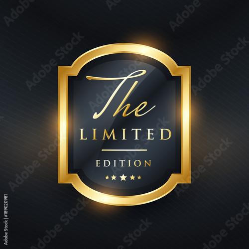 Fotografía limited edition premium golden label design