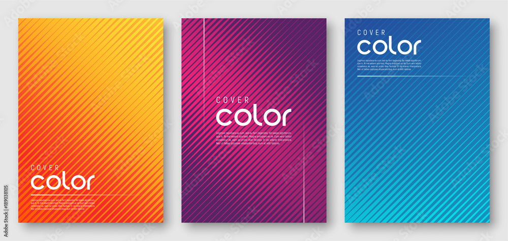 Fototapety, obrazy: Abstract gradient geometric cover designs