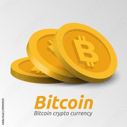Valokuva Golden Bitcoin symbols background