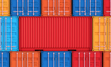 Stack Of Containers Box, Cargo...