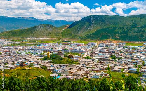 Fotografia Shangri-La or Xianggelila, formerly Zhongdian, imountain city n northwestern Yunnan province