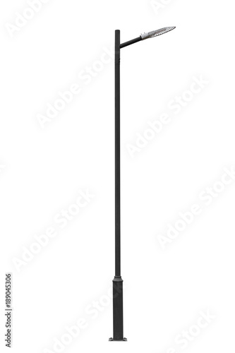 Street light pole isolated. Wall mural