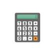 calculator for mathematics on white background