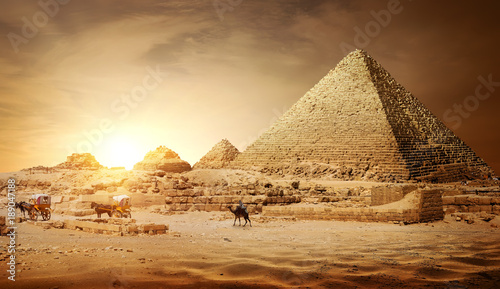 Poster Egypte Pyramids of Egypt