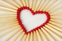 Heart Made Of Matches - Love Concept