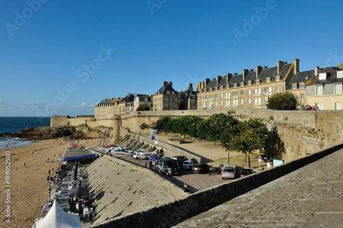 Plakat Saint-Malo, Bretania, wybrzeże