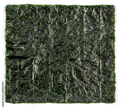 Sheet of dried seaweed
