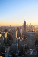 New York City Skyline Sunset Impression