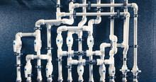 White Plastic Pipes In Boiler ...