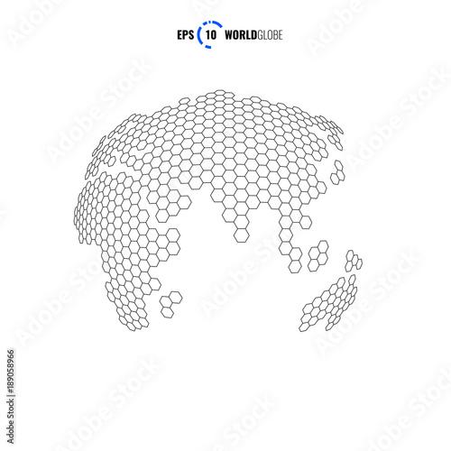 Vector World Globe Template