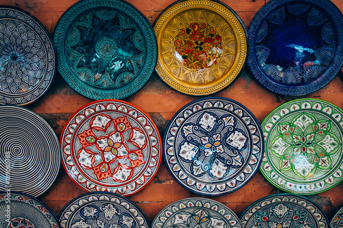 Plates For Sale >> Moroccan Plates For Sale On Shop Wall In Marrakech Buy
