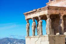 Karyatides Statues, Erehtheio,...