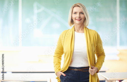 Fotografia Female teacher in the classroom