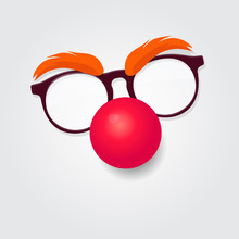 Red Nose Day. Carnival Goggles...