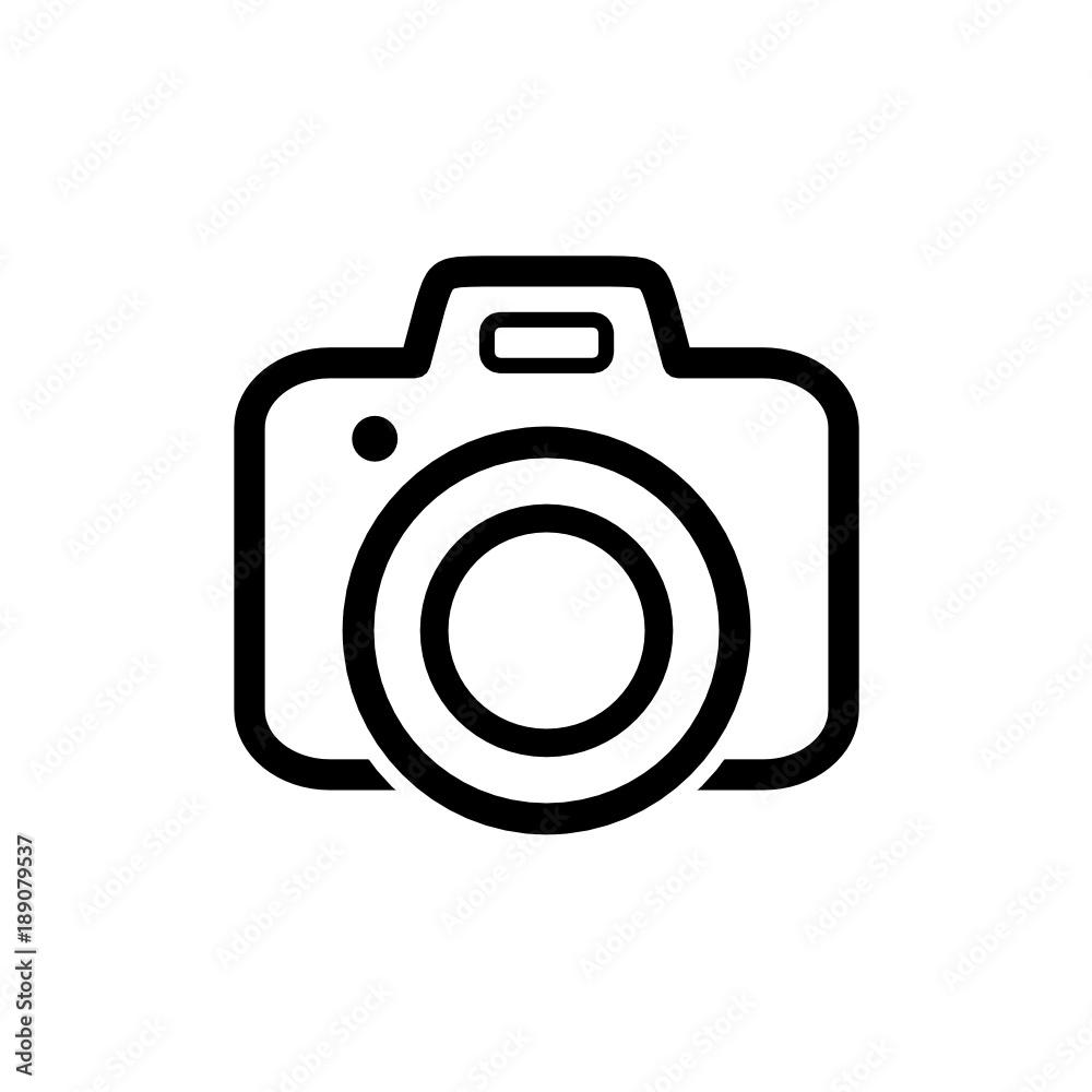 Fototapety, obrazy: aparat fotograficzny ikona