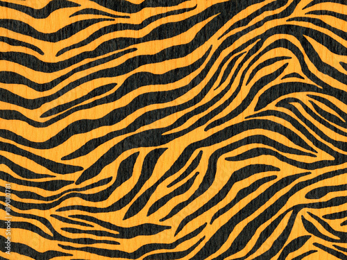 In de dag Tijger Crepe paper made of zebra animal pattern for wallpaper or backgrounds