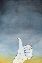 Human Hand Giving The Thumbs Up Sign