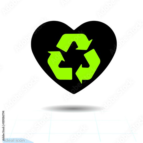 Heart Icon A Symbol Of Love Valentine Day With The Sign Of The