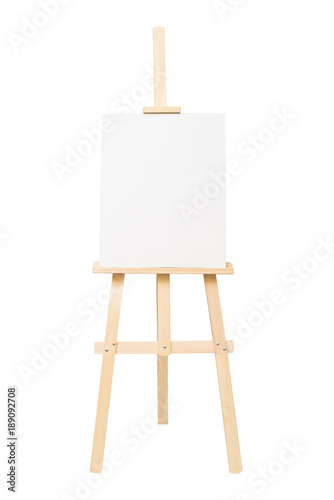 Easel empty for drawing isolated on white background Wallpaper Mural