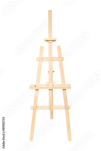 Fotomural Easel for drawing isolated on white background