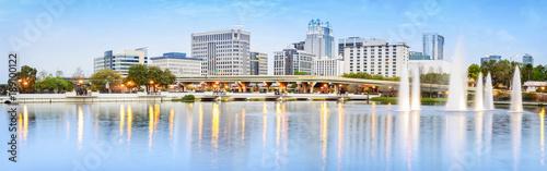 Downtown Orlando Skyline. Located in Orlando, Florida, USA.