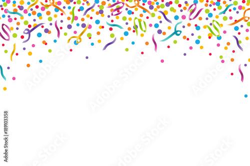 Colorful Confetti Celebration Horizontal Vector Illustration 1 Fototapeta
