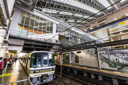 Deurstickers Treinstation 駅