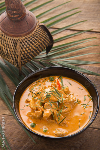 7aaa3d11 Thai curry red soup,Thailand tradition red curry with beef,pork or chicken  menu in thai name is panaeng.Curry menu with coconut milk.