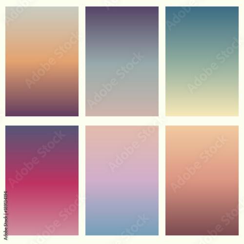 Photo  Colorful soft vector backgrounds gradient set