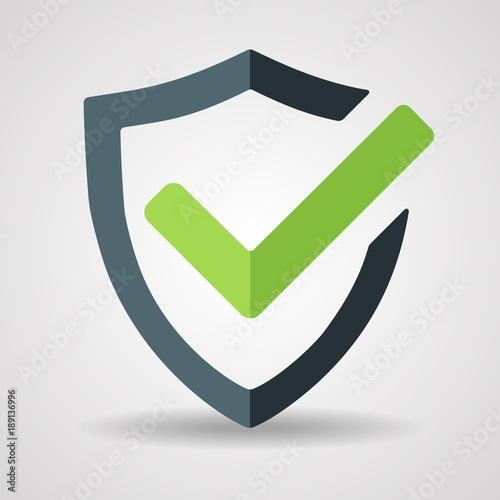 Fotografie, Obraz  Tick mark approved icon vector on white background