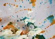 Sparkling watercolor paint pastel abstract background and waxy spots, colorful abstract texture