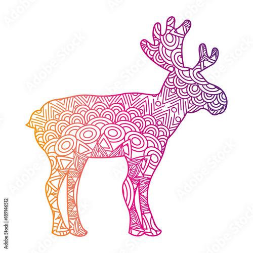 los-grafika-wektorowa-kreskowka-ilustracja-z-gradientem