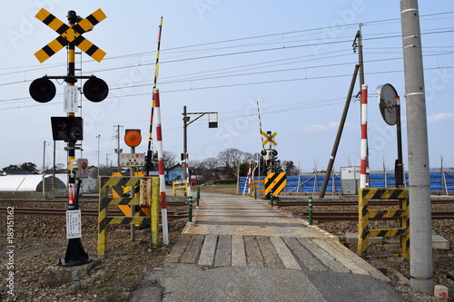 Fotografia, Obraz  鉄道線路の踏切